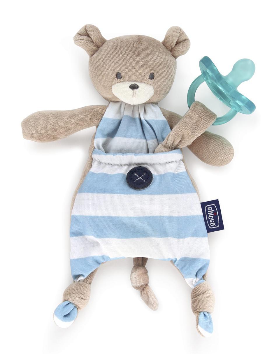 Peluche porta chupón Chicco oso para niño Precio Sugerido